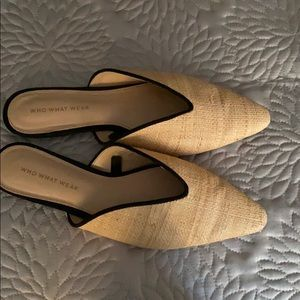 Who what wear only worn once raffeta mules